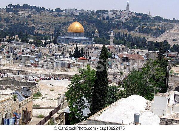 Old City of Jerusalem - csp18622475