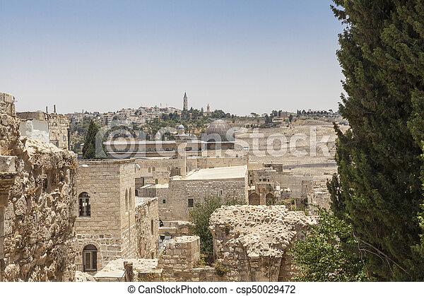 Old City of Jerusalem - csp50029472