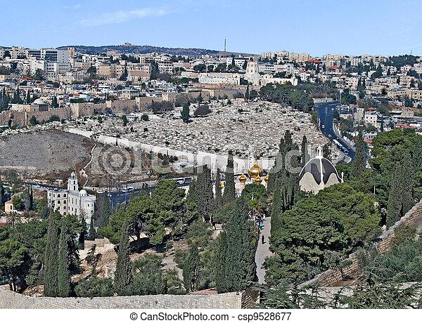 Old city of Jerusalem - csp9528677