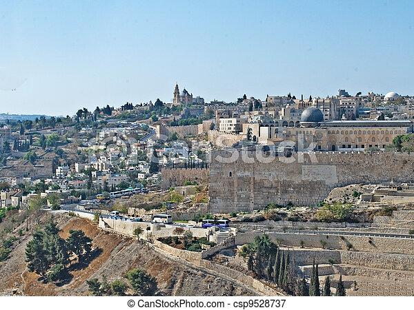 Old city of Jerusalem - csp9528737