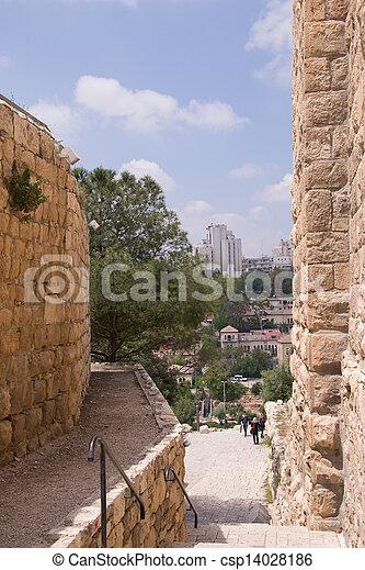 Old city of Jerusalem - csp14028186