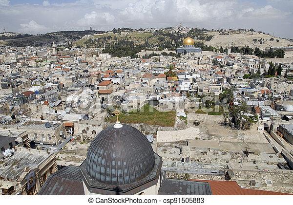 Old city of Jerusalem. - csp91505883