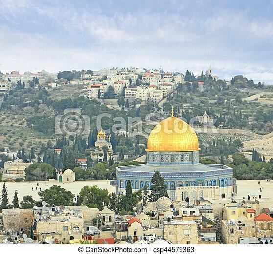 Old city of Jerusalem - csp44579363