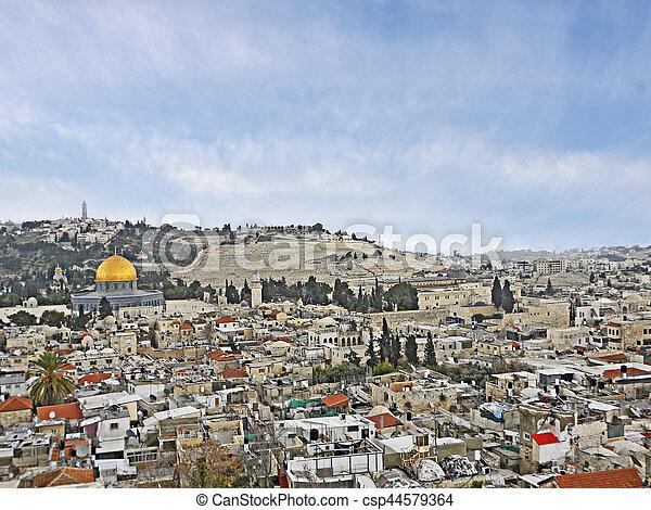 Old city of Jerusalem - csp44579364