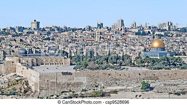 Old city of Jerusalem - csp9528696