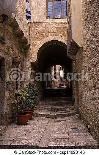 Old city of Jerusalem - csp14028146