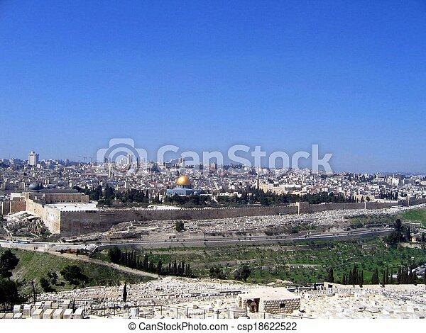 Old City of Jerusalem - csp18622522