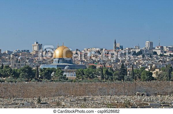 Old city of Jerusalem - csp9528682