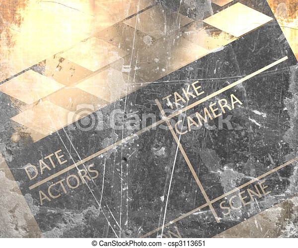 Old Clapboard Grunge On A Vintage Background Clipart