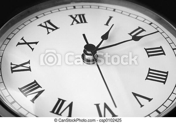 Old Clock Face - csp0102425