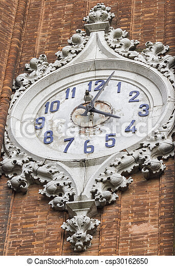 old clock of the bell tower - csp30162650