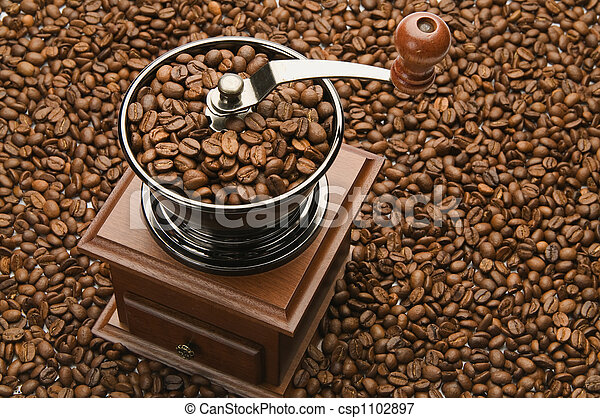 Old coffee grinder - csp1102897