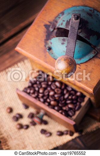 old coffee grinder - csp19765552