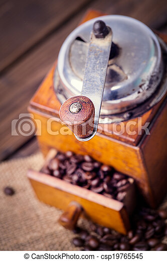 old coffee grinder - csp19765545
