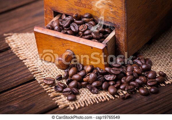 old coffee grinder - csp19765549
