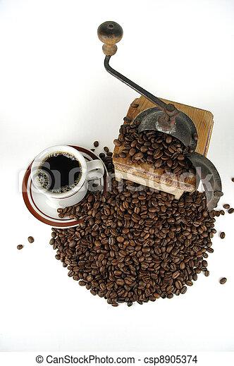 Old Coffee Grinder - csp8905374