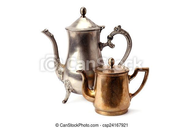 old coffee pot - csp24167921