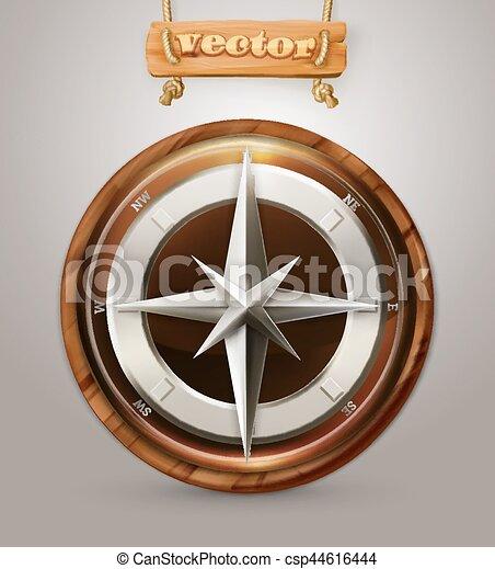 Old Compass 3d Vector Icon Eps Vector Search Clip Art