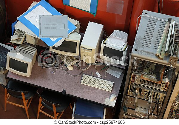 Old Computers - csp25674606