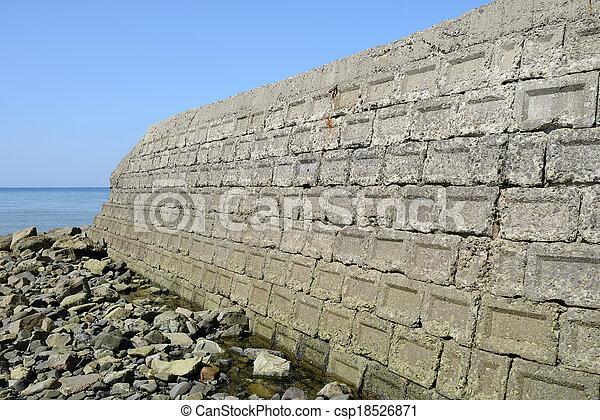 old concrete blocks - csp18526871