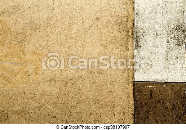 Old concrete wall fragment texture. braun colour. horizontal ...
