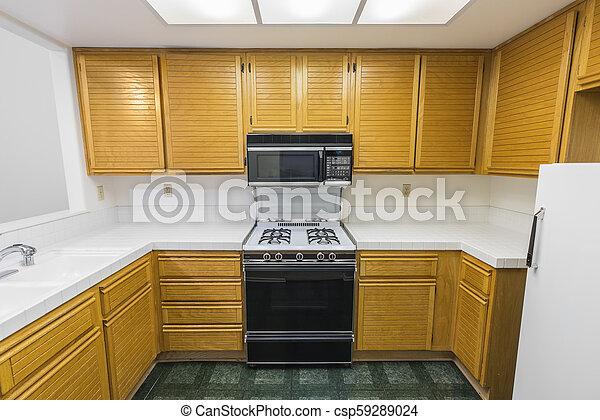 Old Condo Kitchen - csp59289024