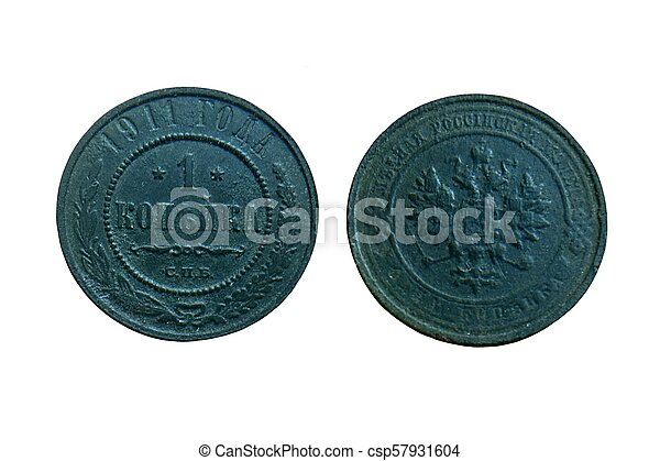old copper coin of the Russian Empire - csp57931604