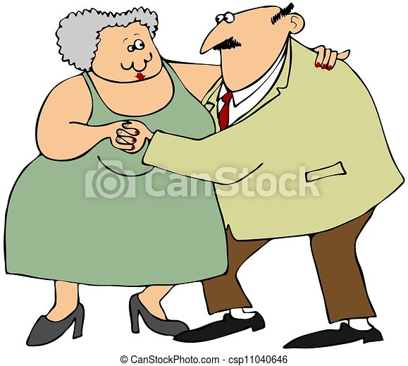 Old couple dancing - csp11040646