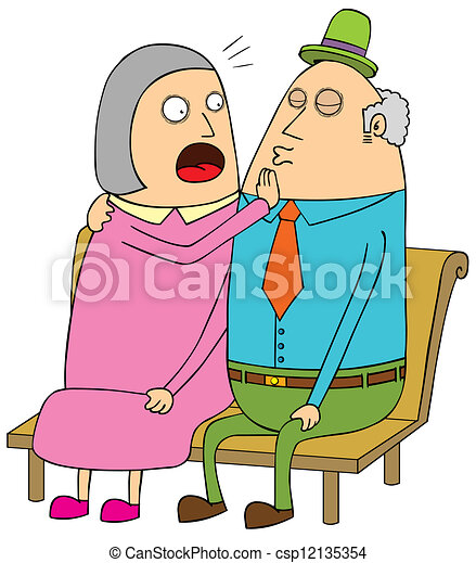 old couple dating - csp12135354