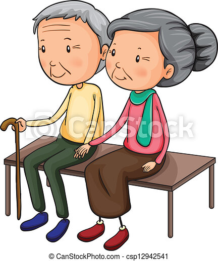 Old couple - csp12942541