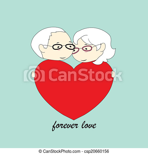 old couple love - csp20660156