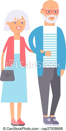 old couple people illustration old couple people vector clip rh canstockphoto com old people clip art for window clings Black and White Clip Art Old People