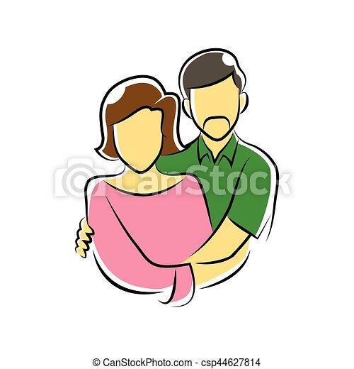 old couple symbol - csp44627814