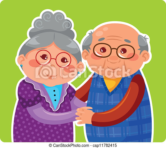 old couple - csp11782415