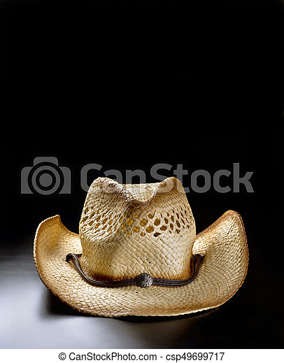 de357152aa436 Old cowboy straw hat. Old cowboy straw hat with lots of room for ...