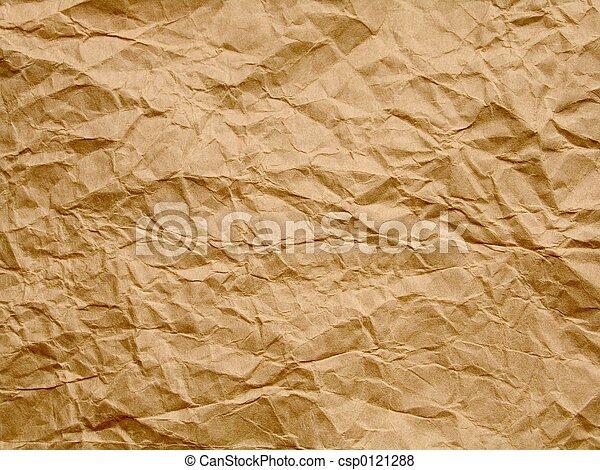 old crumpled paper - csp0121288