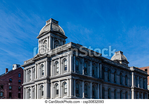 Old Customs House in Portland Maine - csp30832093
