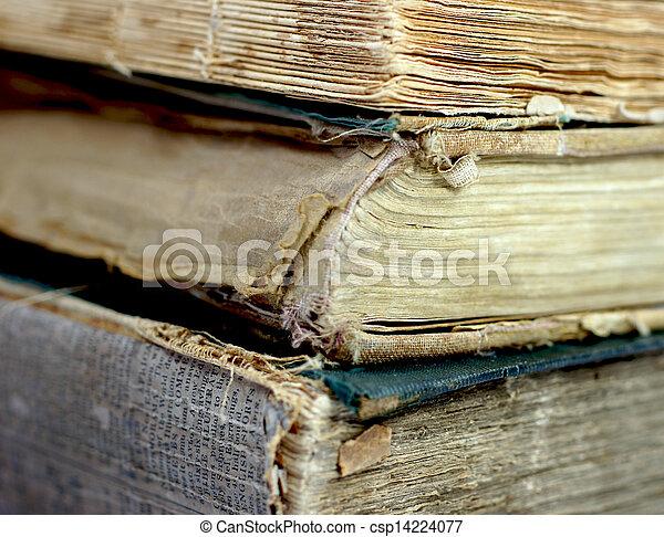 Old damaged books - csp14224077