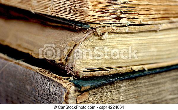 Old damaged books - csp14224064