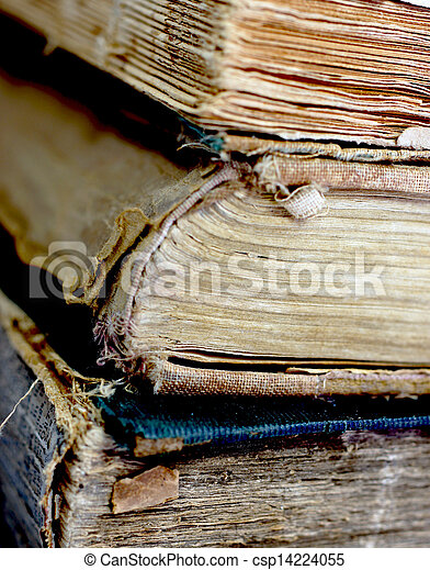 Old damaged books - csp14224055