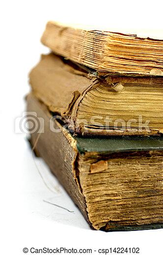 Old damaged books - csp14224102