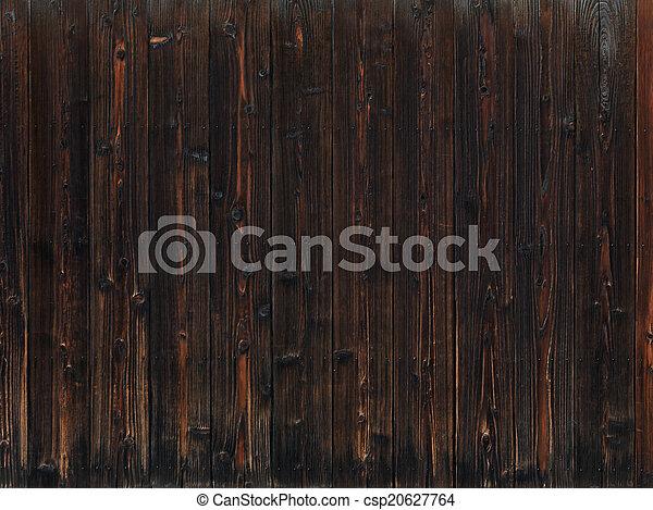 Old dark wood texture background - csp20627764