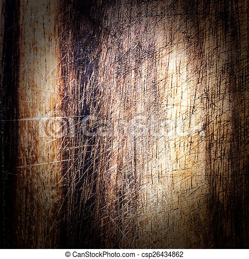 Old dark wood texture, vintage natural oak background with wood' - csp26434862