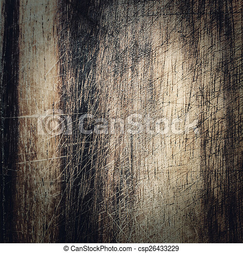 Old dark wood texture, vintage natural oak background with wood' - csp26433229