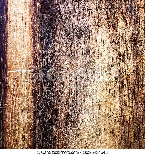 Old dark wood texture, vintage natural oak background with wood' - csp26434643