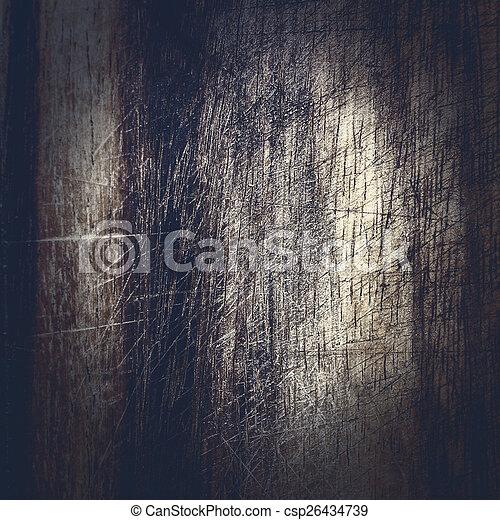 Old dark wood texture, vintage natural oak background with wood' - csp26434739