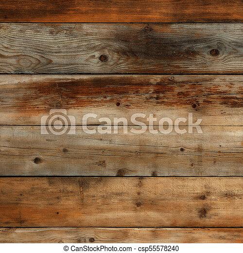 Old dark wood wall background - csp55578240