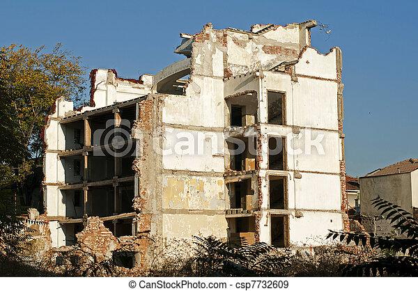 Old demolished building - csp7732609