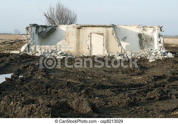 Old demolished building - csp8213029