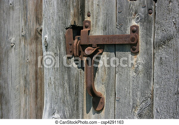 Old door handle. Old door handle.